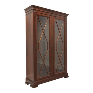 Ethan Allen Birkhouse Chippendale Display Cabinet For Sale