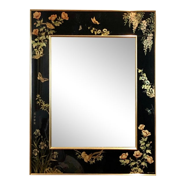 Labarge Eglomise Chinoiserie Mirror - Final Markdown For Sale