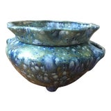 Image of 1950's Vintage Drip Glaze Self Watering Planter For Sale