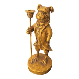 Vintage Sir Bulldog Candle Holder