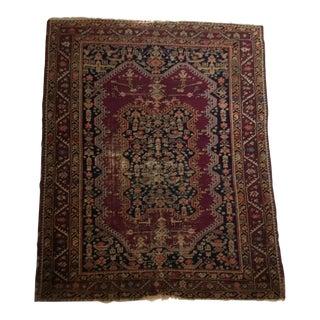"Antique Hand-Woven Oriental Rug - 48.5"" x 60"""