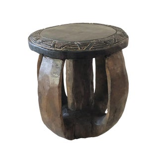 "Superb African Baga Low Stool Guinea 9.5"" H For Sale"