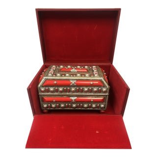Ornate Moroccan Jewelry Box For Sale