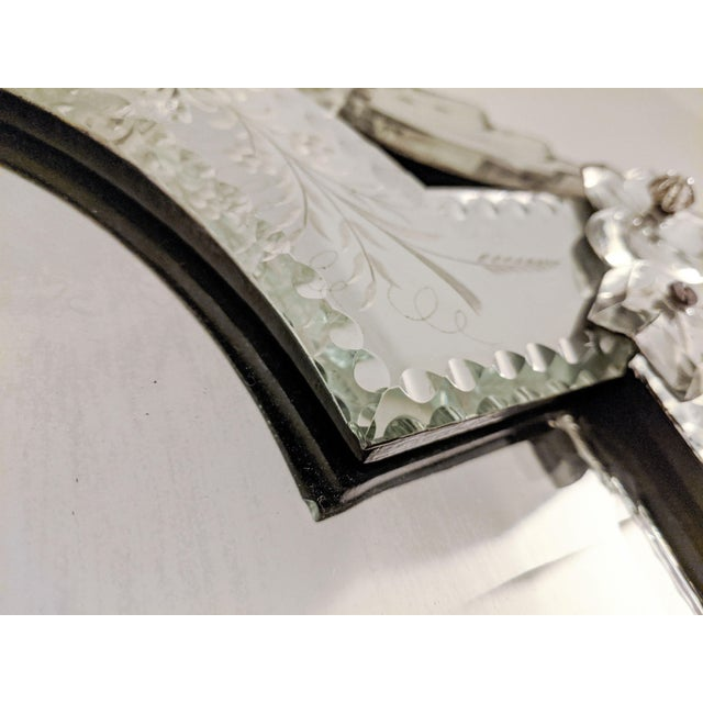 Early 20th Century Vintage Etched Venetian Mirror For Sale - Image 9 of 13