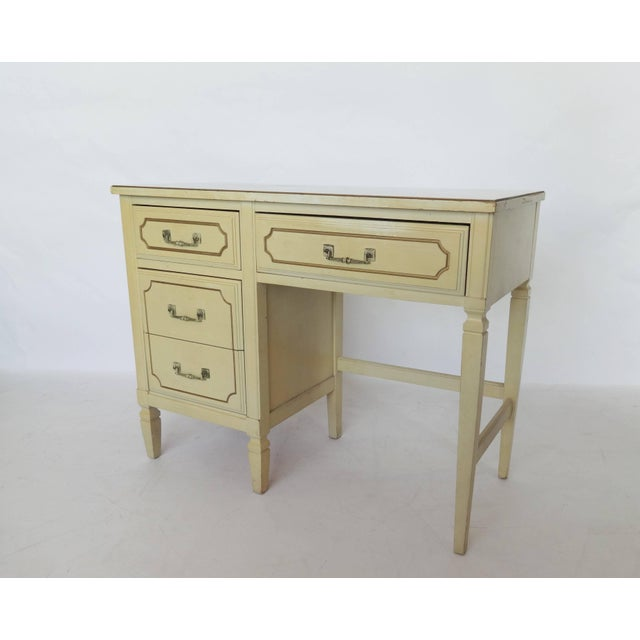 Mid-Century Modern French Regency Writing Desk and Chair For Sale - Image 3 of 8