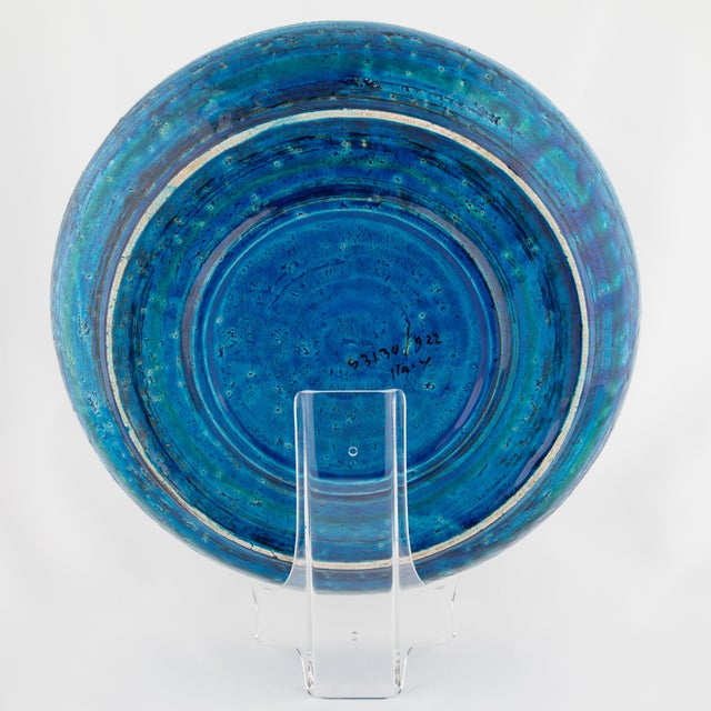 "Blue ""Rimini Blu"" Ceramic Platter by Aldo Londi for Bitossi, Circa 1960s For Sale - Image 8 of 13"