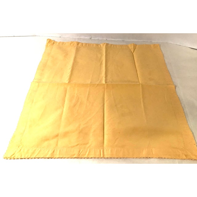 Vintage Yellow Dinner Napkins - Set of 4 For Sale In Dallas - Image 6 of 8