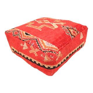 Berber Handmade Boujaad Unstuffed Pouf For Sale