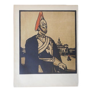 Antique Lithograph-London Types-The Horse Guard