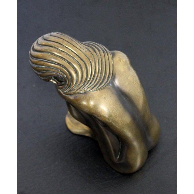 "Bronze Contemporary Modern Tom Bennett Signed ""Solitude"" Bronze Sculpture 94/250 For Sale - Image 7 of 9"