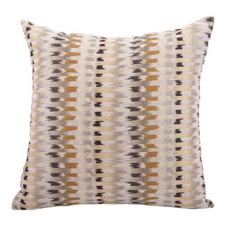 "Tribal Woven Lines 20"" Square Pillow For Sale"