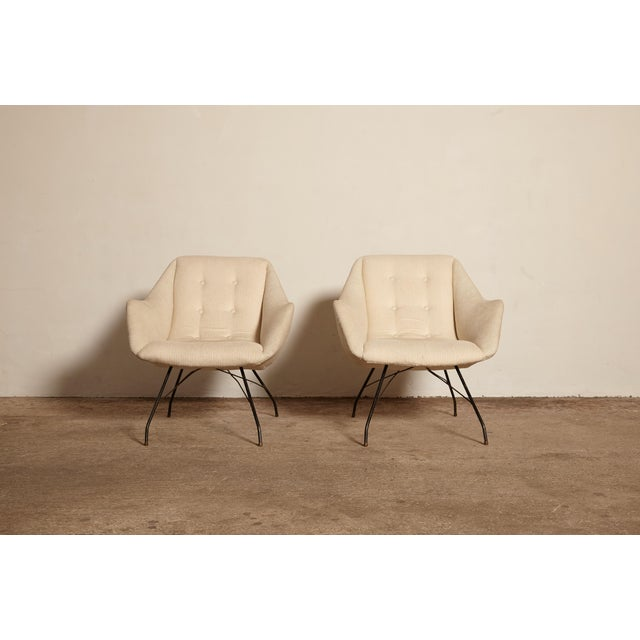 Forma Brazil 1950s Vintage Forma Brazil Carlo Hauner and Martin Eisler Shell 'Concha' Lounge Chairs - a Pair For Sale - Image 4 of 13