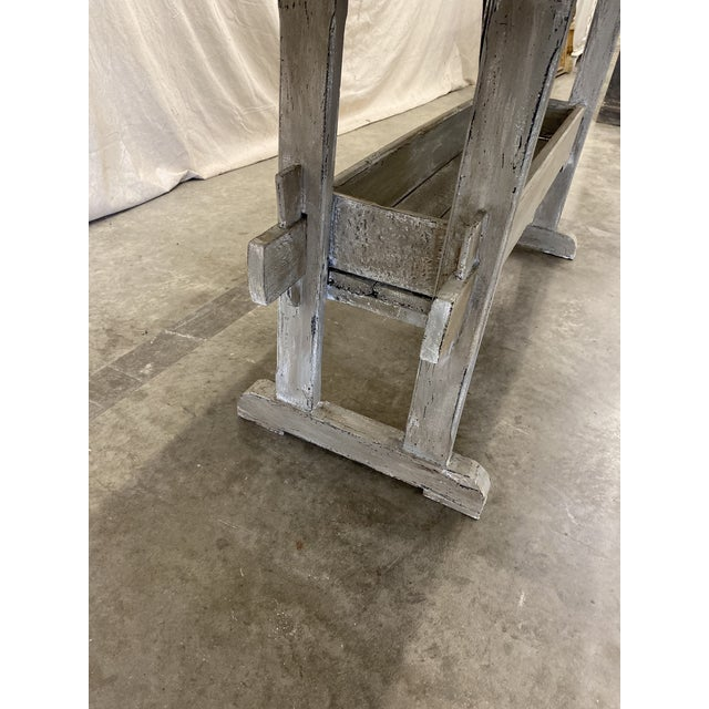 Swedish Painted Trestle Dining Table For Sale In Austin - Image 6 of 10