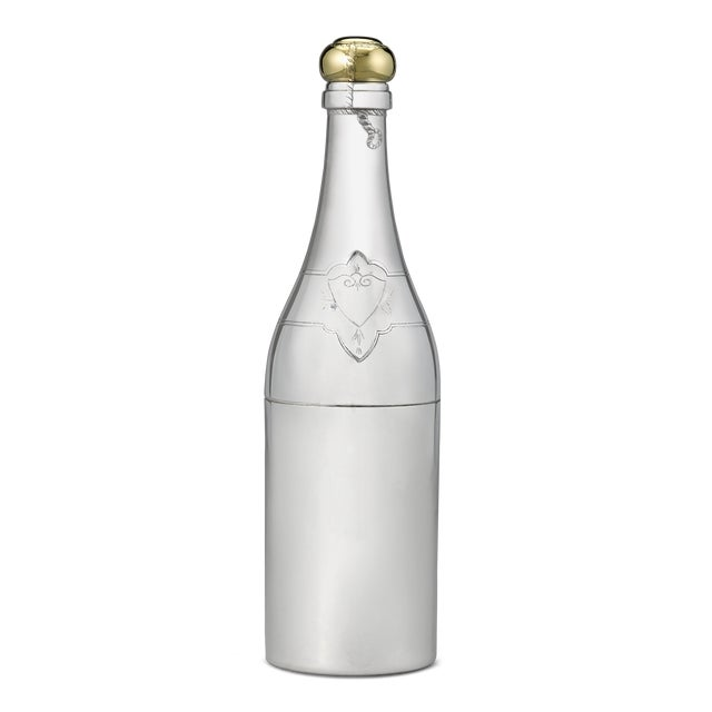 French Champagne Bottle Cocktail Shaker For Sale - Image 4 of 4