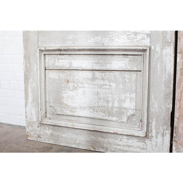 Rustic Pair of 19th Century French Painted Panel Doors For Sale - Image 9 of 13