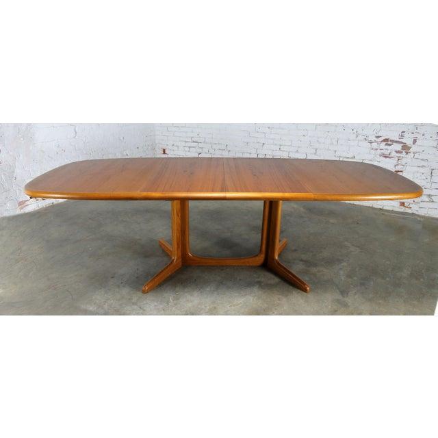 Vintage Gudme Mobelfabrik Teak Expanding Dining Table Chairish - Expanding conference table