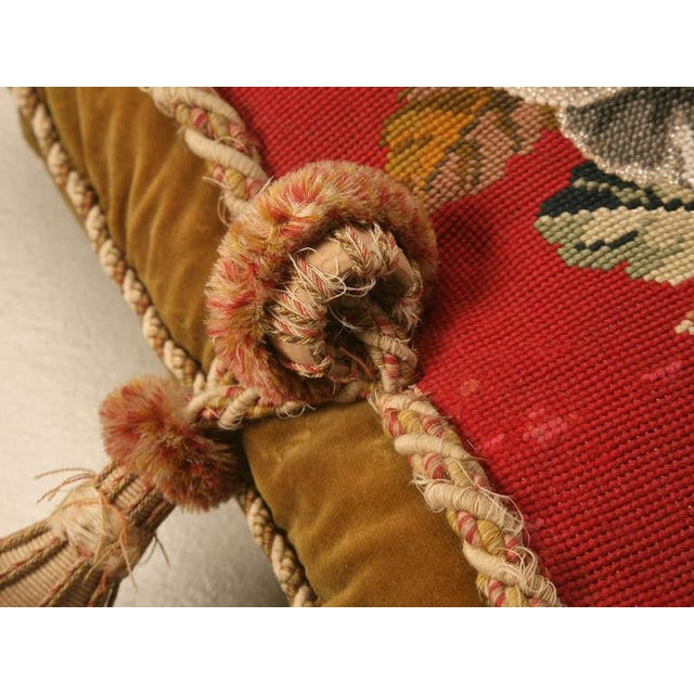 Glass Circa 1900 Victorian English Beaded and Needlepoint Pillow For Sale - Image 7 of 11