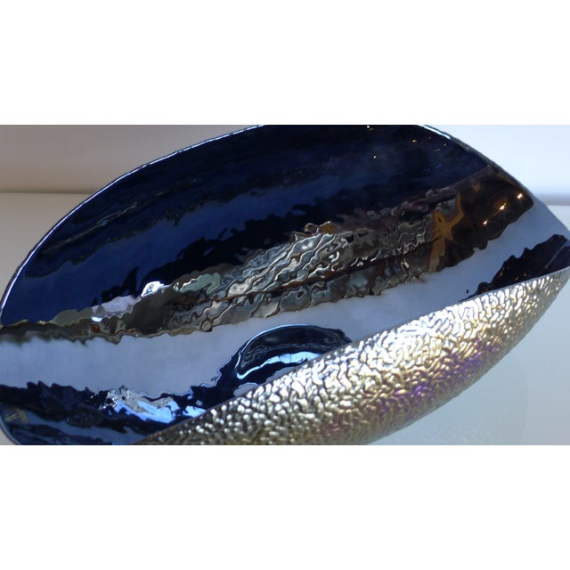 Murano Bowl with Textured Surface and Iridescent Colors - Image 5 of 5