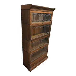 19th Century Boho Chic Oak Stacking Barrister Bookcase