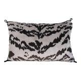 Image of Hollywood Regency Silk Velvet Tiger Stripe Pillow For Sale