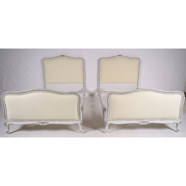 Antique French Louis XV Twin Bedframes - A Pair - Image 2 of 11