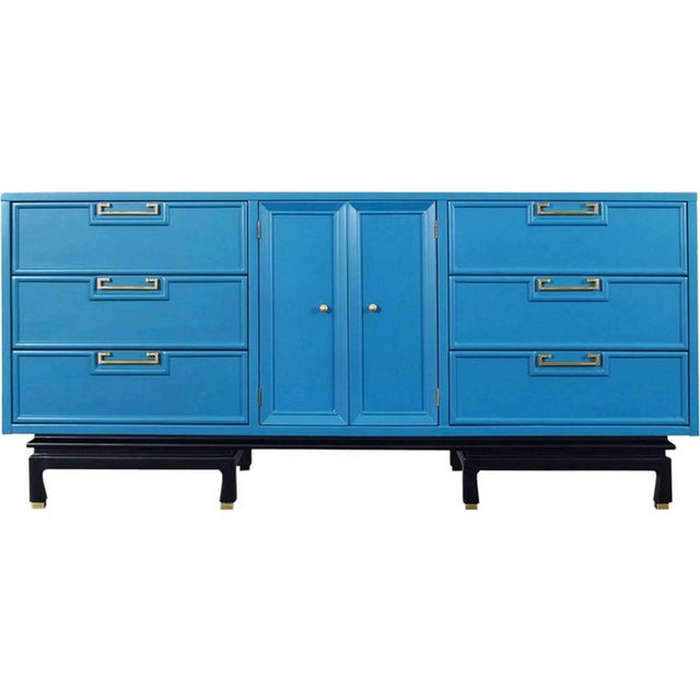 1970s Mid-Century Modern American of Martinsville Lowboy Dresser For Sale In Chicago - Image 6 of 7