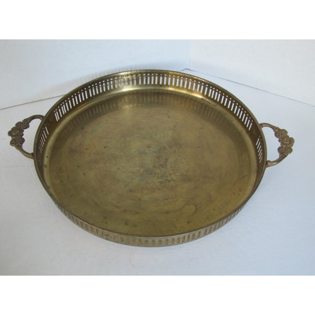 Vintage Round Brass Trays - A Pair - Image 3 of 7