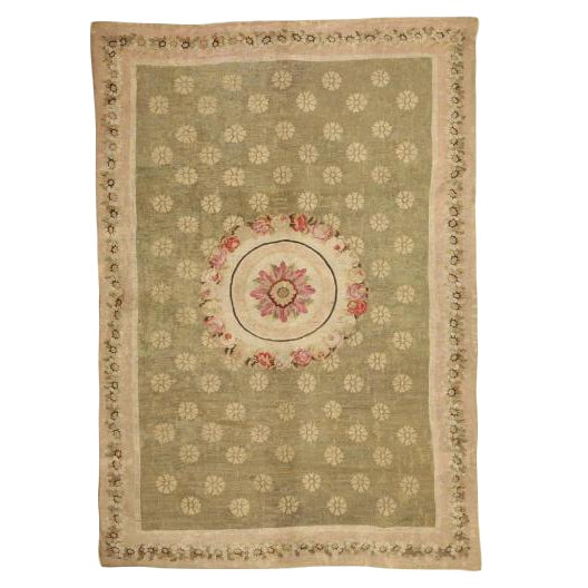 Antique Early 19th Century Aubusson Carpet For Sale