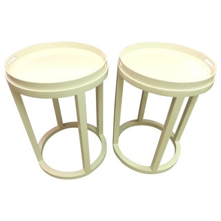 Williams Sonoma Side Tables/Trays - A Pair For Sale