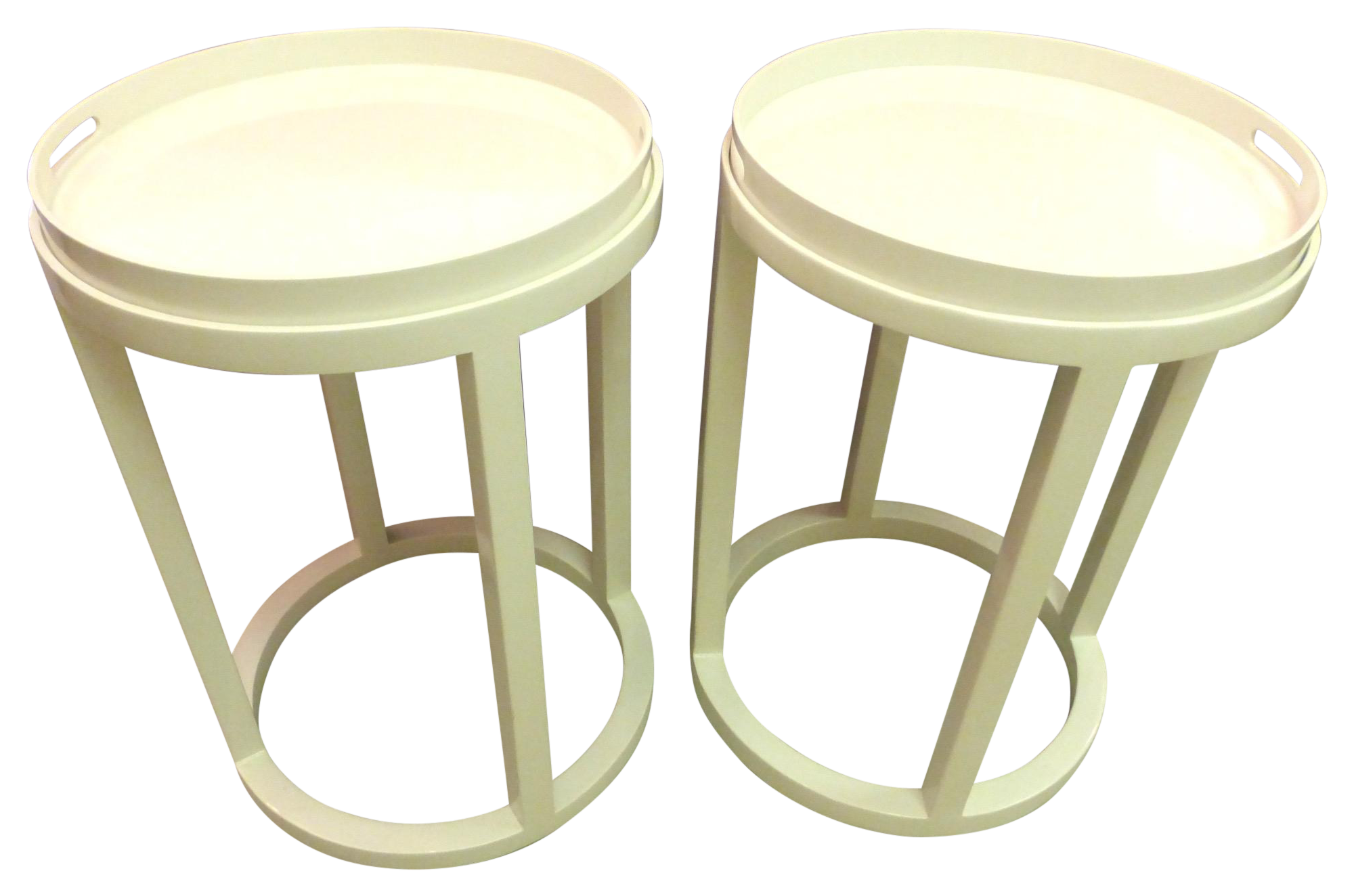 Williams Sonoma Side Tables/Trays   A Pair