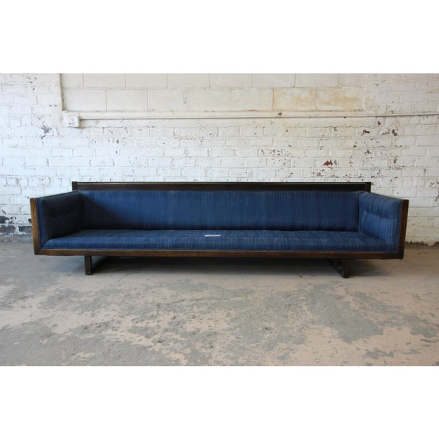 Textile Milo Baughman Style Mid-Century Modern Floating Sofa For Sale - Image 7 of 11