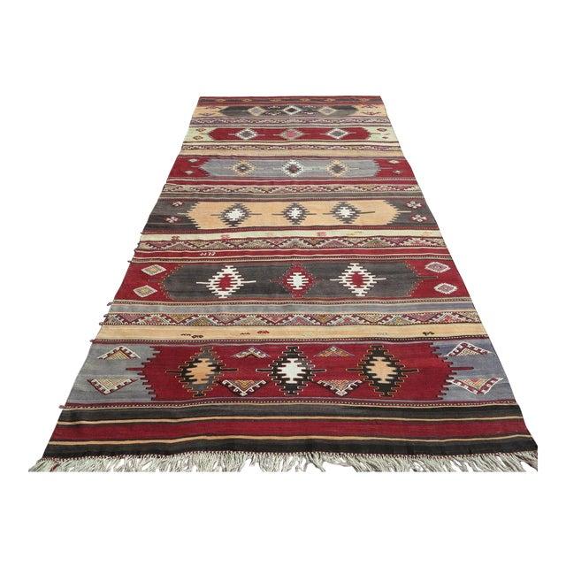 1960s Vintage Turkish Kilim Rug For Sale