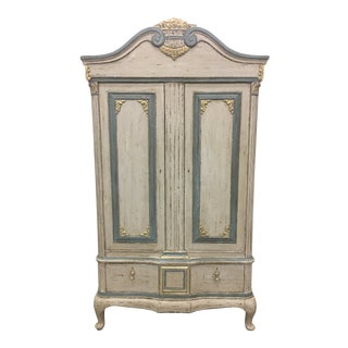 Early 20th C Scandinavian Two Door Cabinet For Sale