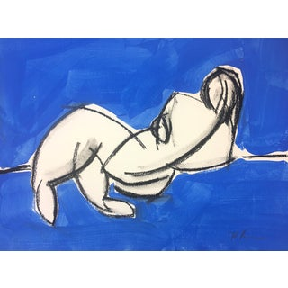 Ali in Blue #6 Drawing by Heidi Lanino For Sale