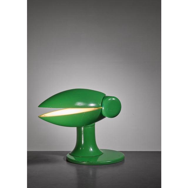 Carla Venosta green Quebec table lamp, Italy, 1970s - Image 3 of 8