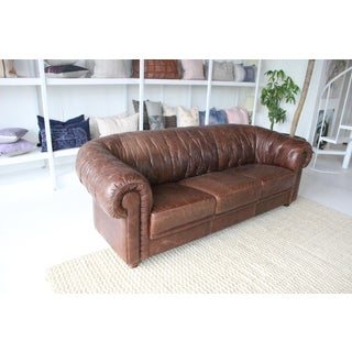 1960s Vintage Italian Leather Sofa Preview