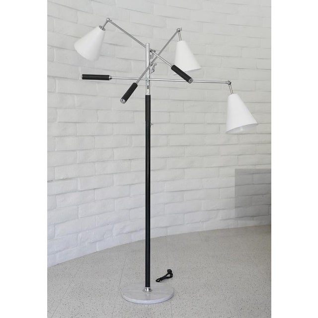 Metal 1960s Classic Triennale Three-Arm Floor Lamp For Sale - Image 7 of 7