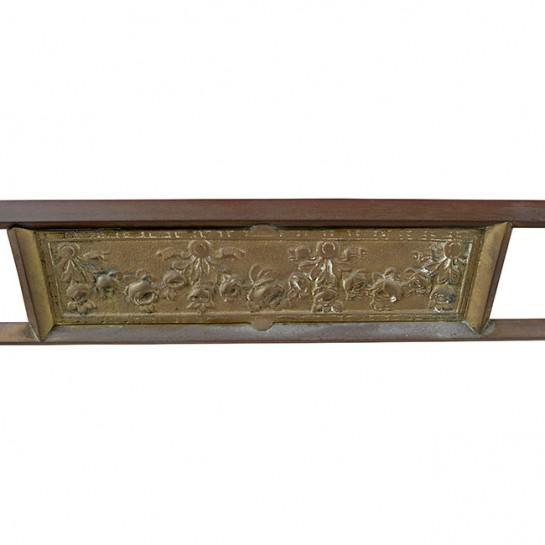 1920s 1920's Art Deco Marble and Brass Vanity For Sale - Image 5 of 9