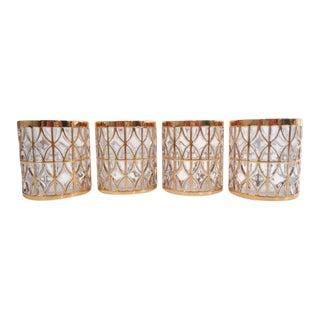 Mid Century El Tabique De Oro GoId Rock Glasses - Set of 4 For Sale