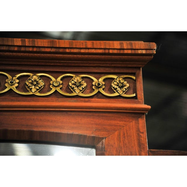 French Empire Bronze Gilt Burled Walnut Vanity Dressing Table For Sale - Image 10 of 11