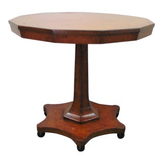 Beidermier Burlwood Inlaid Center Table For Sale