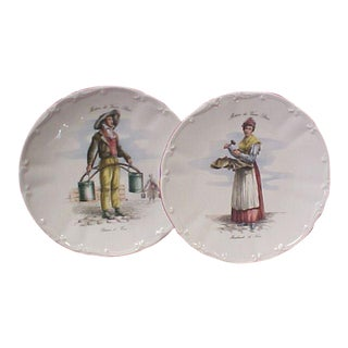 Meiselman Imports French Peasant Plates - a Pair For Sale