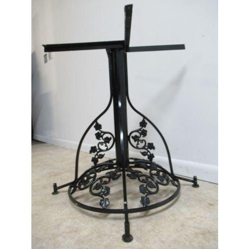 French Vintage French Regency Metal Ivy Dining Table Base For Sale - Image 3 of 11