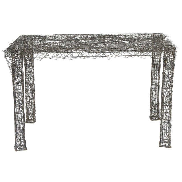 1970s Mid-Century Modern William De Lillo Wire Rod Console or Dining Table For Sale - Image 10 of 10