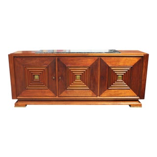 1940s Art Deco Maxime Old Solid Mahogany Masterpiece Sideboard For Sale
