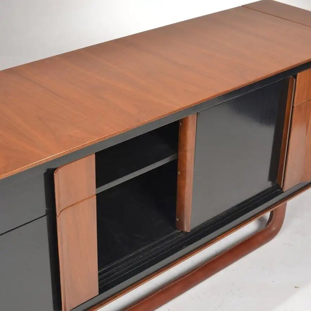 1980s 1980s Italian Modern Credenza With Leather Base For Sale - Image 5 of 9
