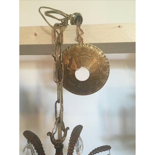 Vintage Brass 10 Light Pineapple Chandelier - Image 4 of 7