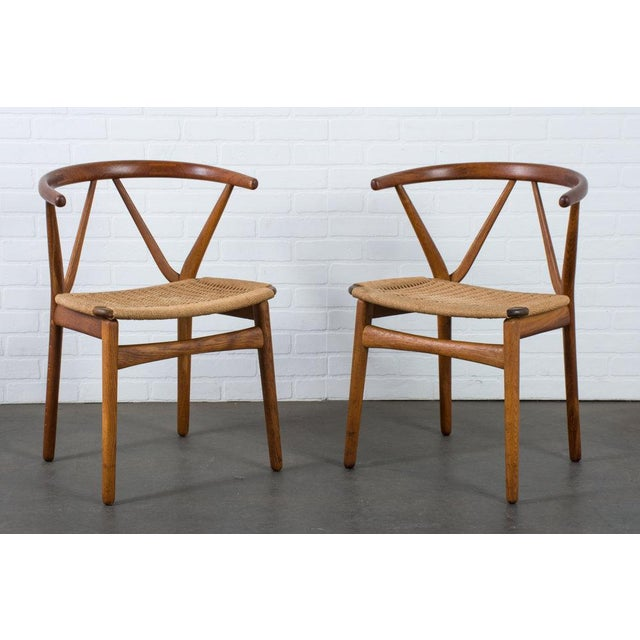 Henning Kjærnulf for Bruno Hansen Model 255 Teak Chairs - A Pair For Sale - Image 13 of 13