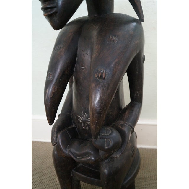 Hand Carved Tribal African Fertility Statue - Image 7 of 10