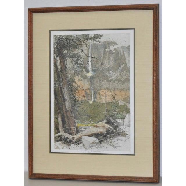 Yosemite Falls Etching by Luigi Kasimir - Image 3 of 10
